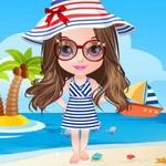 العاب تلبيس بنات على الشاطئ مايوهات